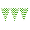 CHEVRON LIME FLAG BANNER PARTY SUPPLIES