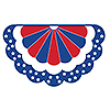 RED-WHITE-BLUE BUNTING BANNER (12/CS) PARTY SUPPLIES