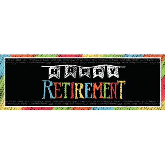 RETIREMENT CHALK GIANT PARTY BANNER PARTY SUPPLIES