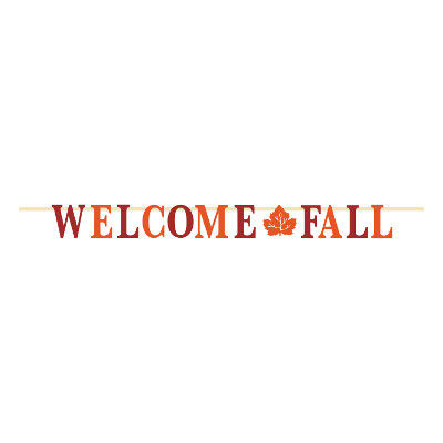 DISCONTINUED WELCOME FALL GLITTER BANNER PARTY SUPPLIES