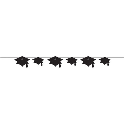 BLACK MORTARBOARD BANNER PARTY SUPPLIES