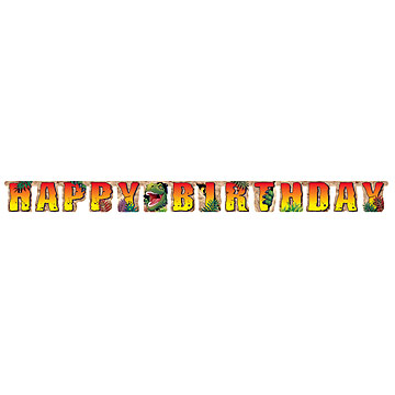 Click for larger picture of DINO BLAST JOINTED BANNER (12/CS) PARTY SUPPLIES
