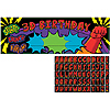 DISCONTINUED SUPERHERO FUN! GIANT BANNER PARTY SUPPLIES