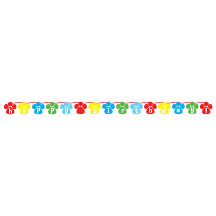 Click for larger picture of PAW-TY TIME! CIRCLE RIBBON BANNER PARTY SUPPLIES