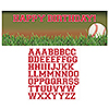 SPORTS FANATIC BASEBALL BANNER PARTY SUPPLIES