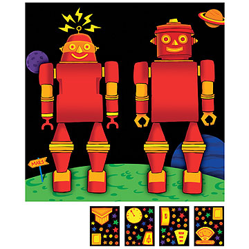 Click for larger picture of DISCONTINUED PARTY 'BOTS DECORATING KIT PARTY SUPPLIES