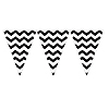 DISCONTINUED CHEVRON BLACK FLAG BANNER PARTY SUPPLIES