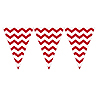 DISCONTINUED CHEVRON RED FLAG BANNER PARTY SUPPLIES
