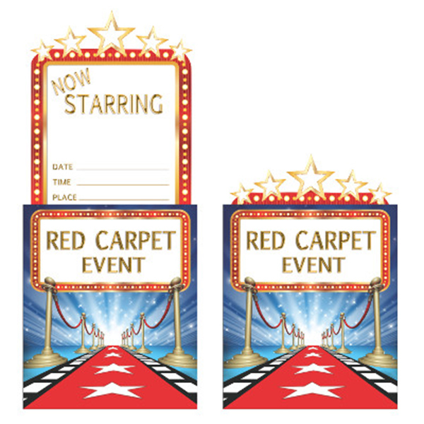 HOLLYWOOD LIGHTS INVITATION (48/CS) PARTY SUPPLIES