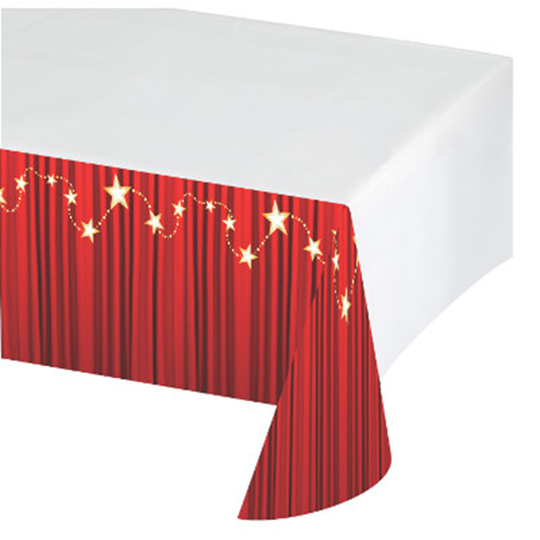 HOLLYWOOD LIGHTS TABLECOVER (6/CS) PARTY SUPPLIES