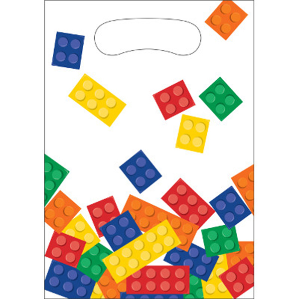BLOCK PARTY TREAT BAGS PARTY SUPPLIES