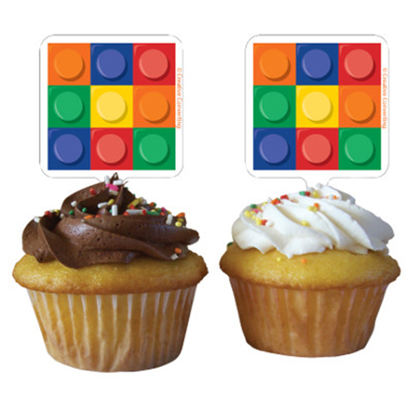 BLOCK PARTY CUPCAKE TOPPER PARTY SUPPLIES