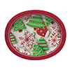 DISCONTINUED HOLIDAY TREATS OVAL PLATTER PARTY SUPPLIES