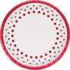 SPARKLE SHINE RUBY DINNER PLATE(96/CS) PARTY SUPPLIES