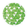 FRACTAL FRESH LIME DINNER PLATE (96/CS) PARTY SUPPLIES
