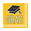 GRAD YELLOW LUNCH NAPKIN PARTY SUPPLIES