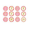 PINK MONTH TO ONE STICKERS (144/CS) PARTY SUPPLIES