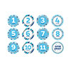 BLUE MONTH TO ONE STICKERS (144/CS) PARTY SUPPLIES