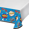 SUPERHERO SLOGANS TABLECOVER PARTY SUPPLIES