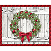 HOLIDAY WREATH PLACEMATS (144/CS) PARTY SUPPLIES