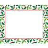 PLACEMATS HOLLY (144/CS) PARTY SUPPLIES