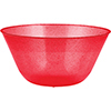 RED GLITTER 11 INCH BOWL (6/CS) PARTY SUPPLIES