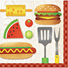 BBQ TIME BEVERAGE NAPKIN (192/CS) PARTY SUPPLIES