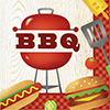 BBQ TIME LUNCHEON NAPKIN (192/CS) PARTY SUPPLIES
