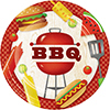 BBQ TIME DINNER PLATE (96/CS) PARTY SUPPLIES