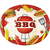 BBQ TIME OVAL PLATTER (96/CS) PARTY SUPPLIES
