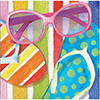 BEACH BLISS BEVERAGE NAPKIN (192/CS) PARTY SUPPLIES