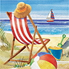 BEACH BLISS LUNCH NAPKIN (192/CS) PARTY SUPPLIES