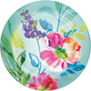 PAINTERLY FLORAL DESSERT PLATE (96/CS) PARTY SUPPLIES