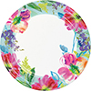 PAINTERLY FLORAL DINNER PLATE (96/CS) PARTY SUPPLIES