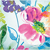 PAINTERLY FLORAL BEVERAGE NAPKIN(192/CS) PARTY SUPPLIES
