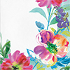 PAINTERLY FLORAL LUNCHEON NAPKIN(192/CS) PARTY SUPPLIES