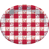 RED GINGHAM OVAL PLATTER (96/CS) PARTY SUPPLIES