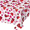 HEARTS ALLOVER TABLECOVER PARTY SUPPLIES