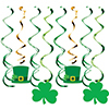ST PATS SPLIT DIZZY DANGLER ICONS(96/CS) PARTY SUPPLIES