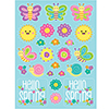 HELLO SPRING STICKERS (48/CS) PARTY SUPPLIES