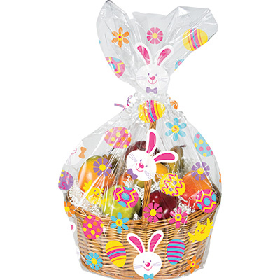 Click For Larger Picture Of Bunny Eggs Cello Basket Bag Party Supplies