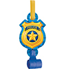 POLICE PARTY BLOWOUTS PARTY SUPPLIES
