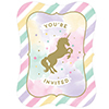 UNICORN SPARKLE INVITATION PARTY SUPPLIES
