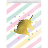 UNICORN SPARKLE PAPER TREAT BAG PARTY SUPPLIES