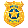 POLICE PARTY INVITATION PARTY SUPPLIES