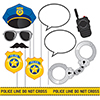 POLICE PARTY PHOTO BOOTH PROP PARTY SUPPLIES