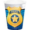 POLICE PARTY HOT-COLD CUPS PARTY SUPPLIES