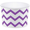 AMETHYST PURPLE TREAT CUPS CHEVRON-72/CS PARTY SUPPLIES