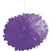 AMETHYST PURPLE FLUFFY TISSUE BALL-36/CS PARTY SUPPLIES