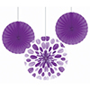 AMETHYST PURPLE FAN DECORATION (18/CS) PARTY SUPPLIES